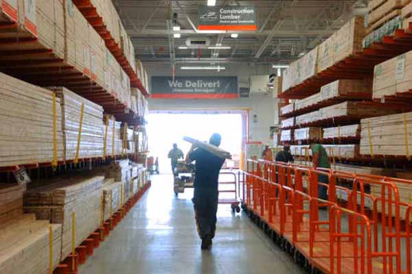 Increased Boston North Shore home improvement activity has meant record sales for big box stores Home Depot and Lowes.